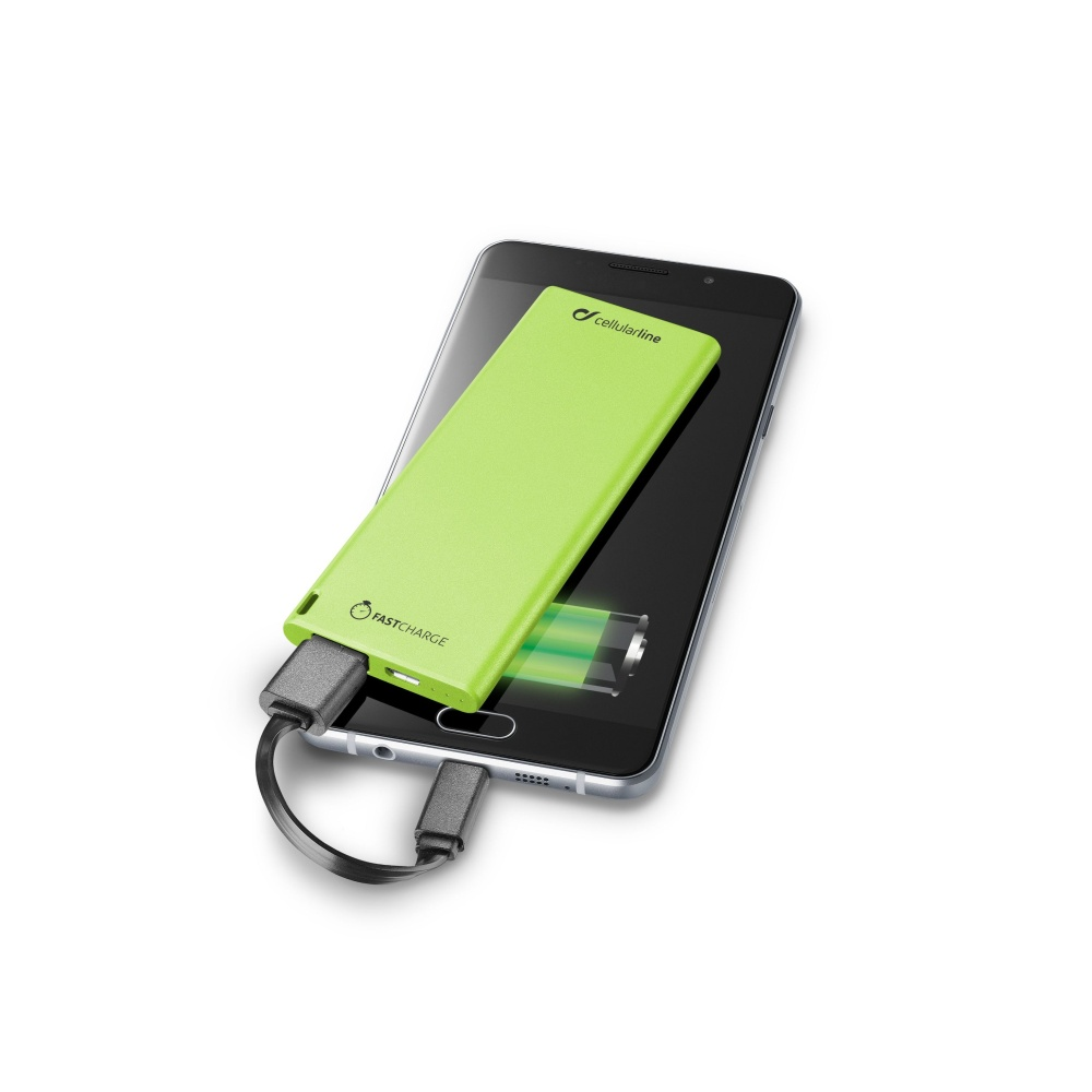 Powerbanka CellularLine FREEPOWER SLIM, 3000mAh, green