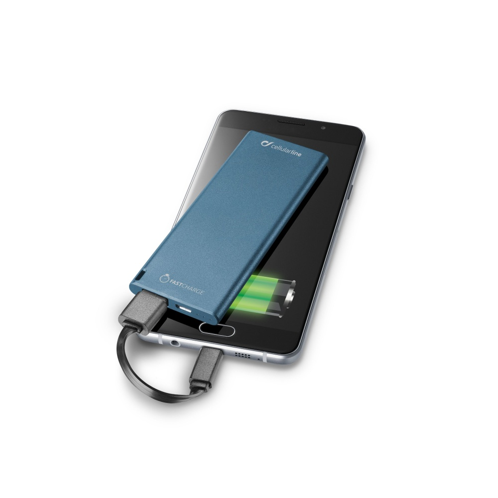 Powerbanka CellularLine FREEPOWER SLIM, 3000mAh, blue