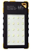 Powerbanka Viking Akula I 8000mAh Ultra Light solární outdoorová, yellow