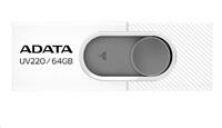 ADATA Flash Disk 32GB USB 2.0 Dash Drive UV220, White/Gray