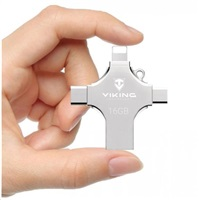 USB flash disk Viking 16GB, silver
