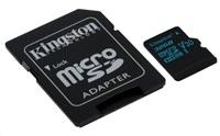Paměťová karta KINGSTON Canvas Go Card 90R, 32GB Micro SDXC, class 10, UHS-I ( s adaptérem )