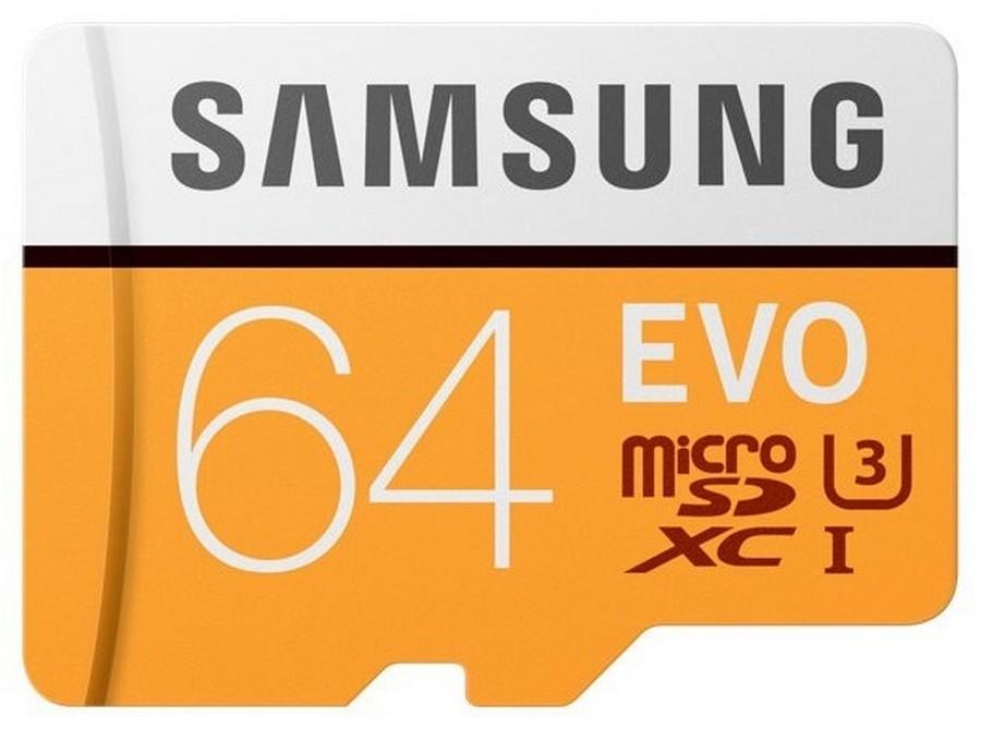 Paměťová karta Samsung EVO 64GB, micro SDHC ( s adaptérem )