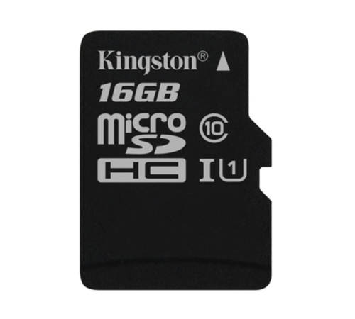 Paměťová karta Kingston CL10 16GB microSDHC, UHS-I 80R/10W