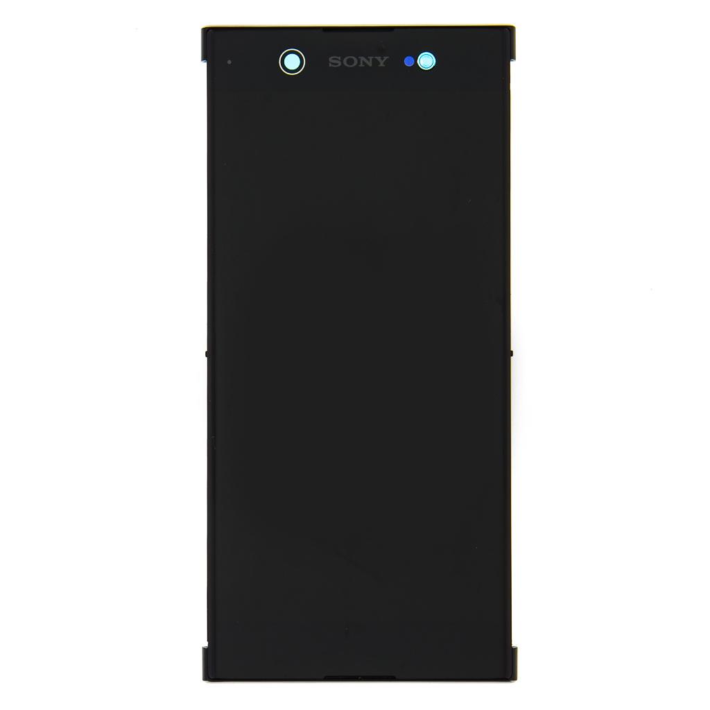 LCD + dotyk+ přední kryt Sony Xperia XA2 Ultra, gold (Service Pack)