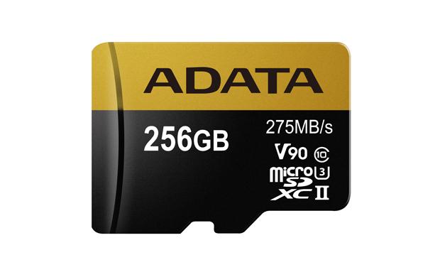 Paměťová karta ADATA 256GB MicroSDXC, class 10, UHS-II U3 s adaptérem