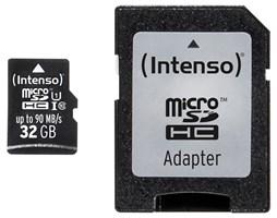 Paměťová karta Intenso 32GB microSDHC PRO, class 10, UHS-I s adaptérem
