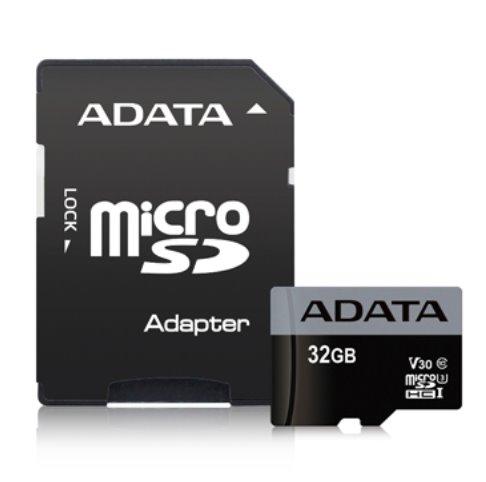 Paměťová karta ADATA Premier Pro 32GB microSDHC, UHS-I U3 V30S s adaptérem