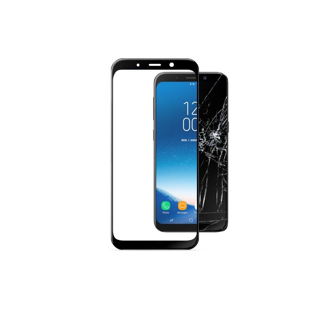Tvrzené sklo CellularLine CAPSULE pro Samsung Galaxy A8 2018, black