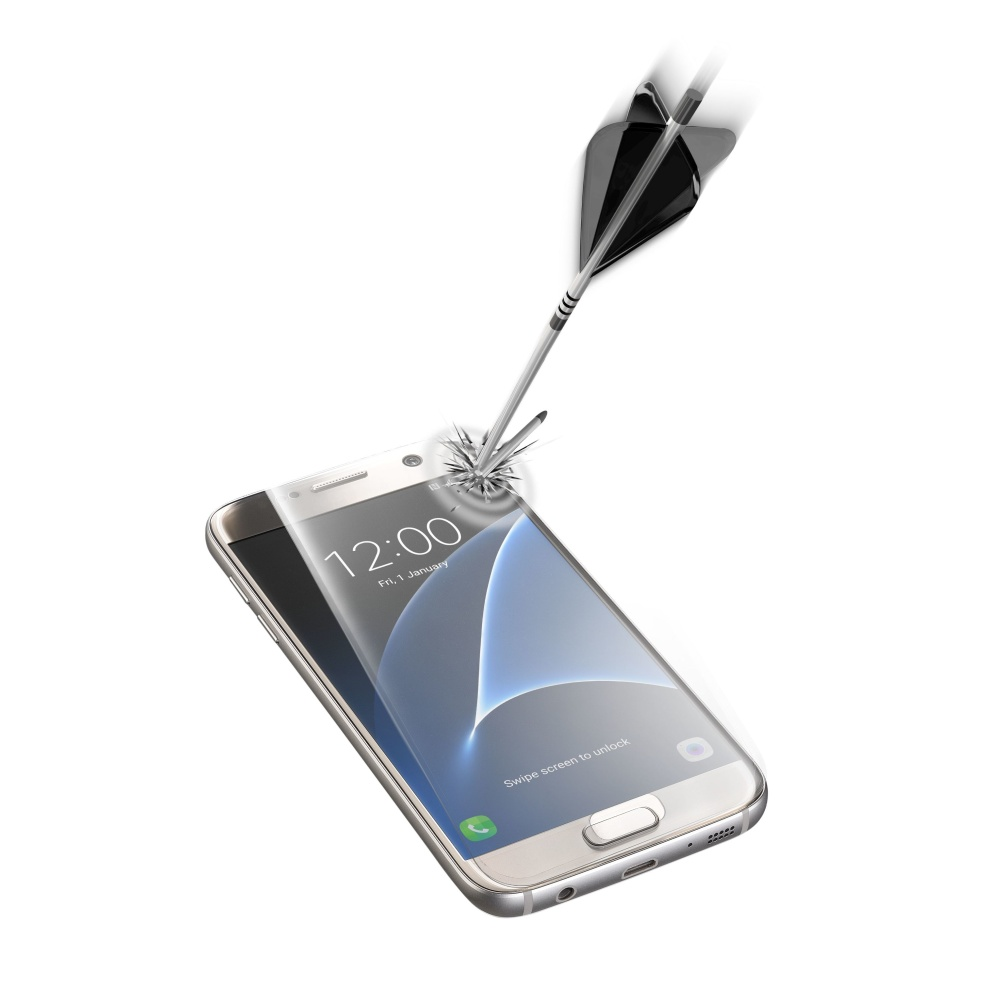 Tvrzené sklo CellularLine CAPSULE pro Samsung Galaxy S7, transparent