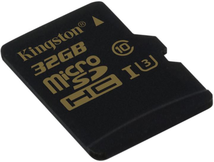 Paměťová karta Kingston microSDHC 32GB, UHS-I U3, class 10