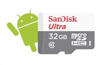 Paměťová karta SanDisk Ultra Android microSDHC 32GB, 80 MB/s, class 10, UHS-I