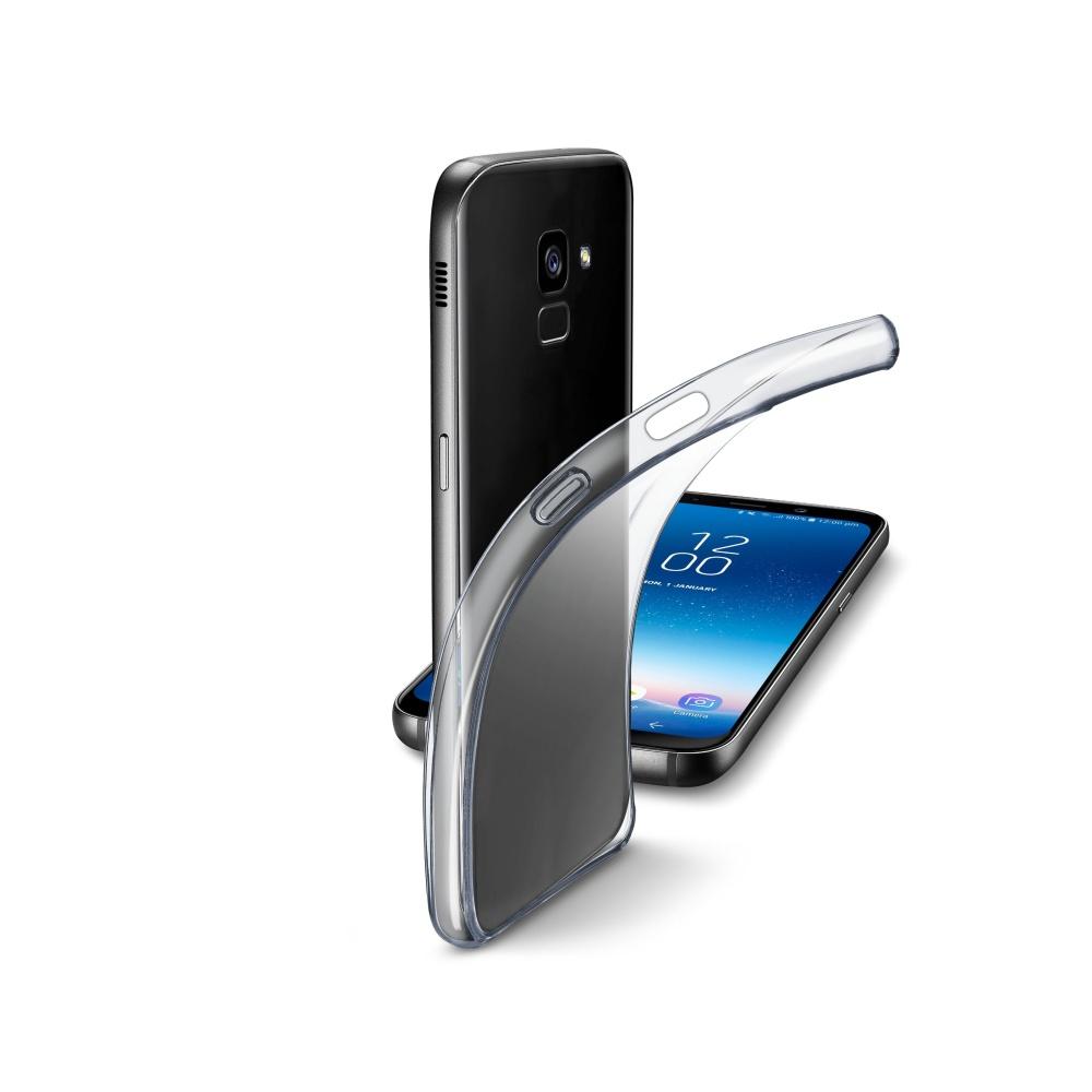 Extratenký zadní kryt CellularLine Fine pro Samsung Galaxy A8 (2018), bezbarvý