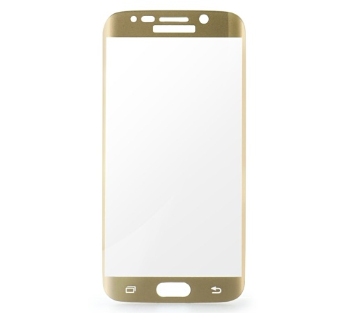Tvrzené sklo Blue Star PRO pro Samsung Galaxy S6 edge, Full face, gold