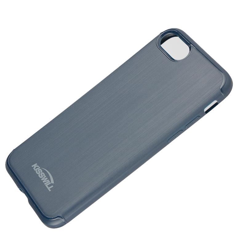 Silikonové pouzdro Kisswill Brushed pro Apple iPhone 7/8 Plus Blue