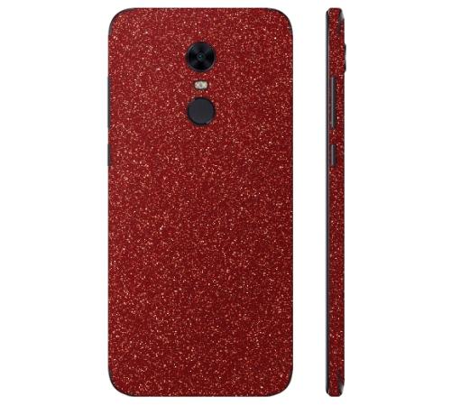 Ochranná fólie 3mk Ferya pro Xiaomi Redmi 5 Plus, červená třpytivá