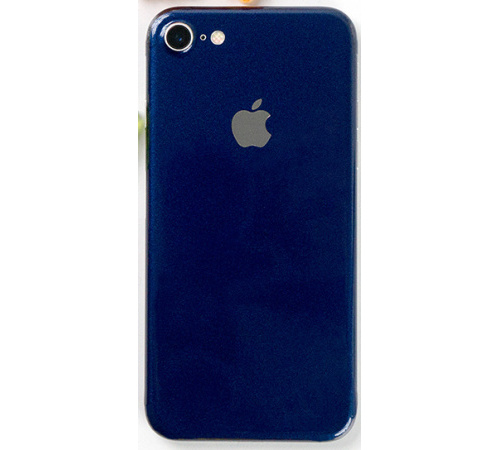 Ochranná fólie 3mk Ferya pro Apple iPhone 8, tmavě modrá lesklá