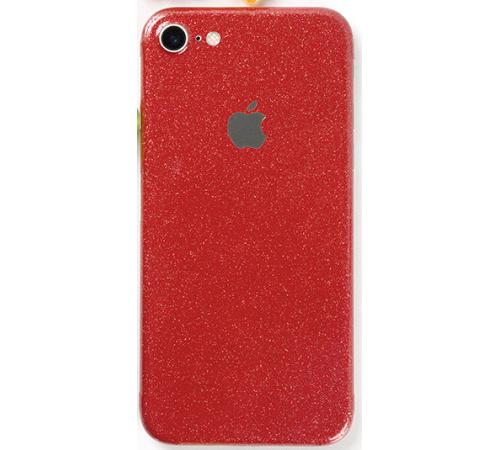 Ochranná fólie 3mk Ferya pro Apple iPhone 7, červená třpytivá