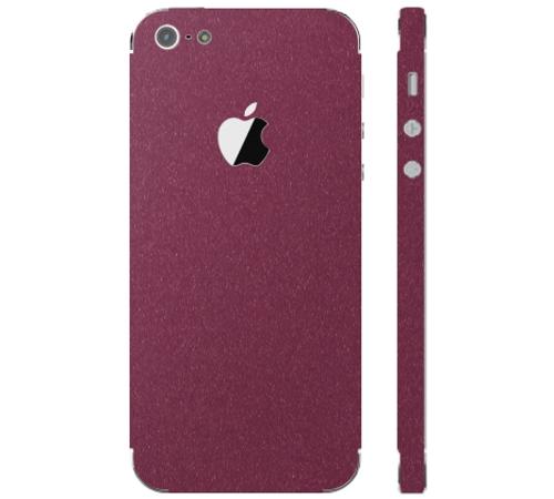 Ochranná fólie 3mk Ferya pro Apple iPhone 5, vínově červená matná