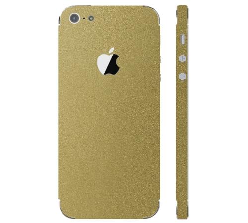 Ochranná fólie 3mk Ferya pro Apple iPhone 5, zlatá lesklá