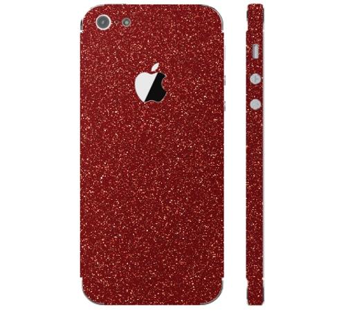 Ochranná fólie 3mk Ferya pro Apple iPhone 5, červená třpytivá