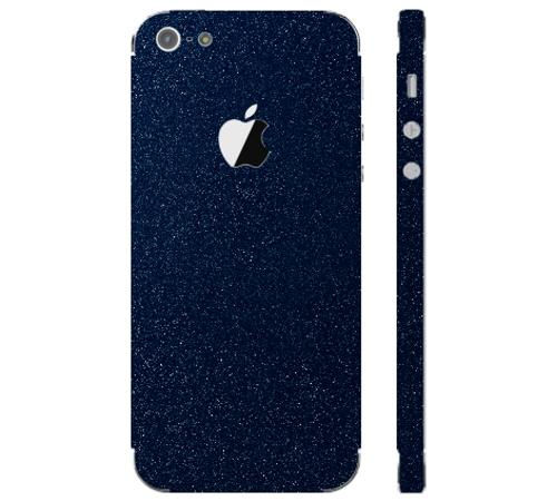 Ochranná fólie 3mk Ferya pro Apple iPhone 5, tmavě modrá lesklá