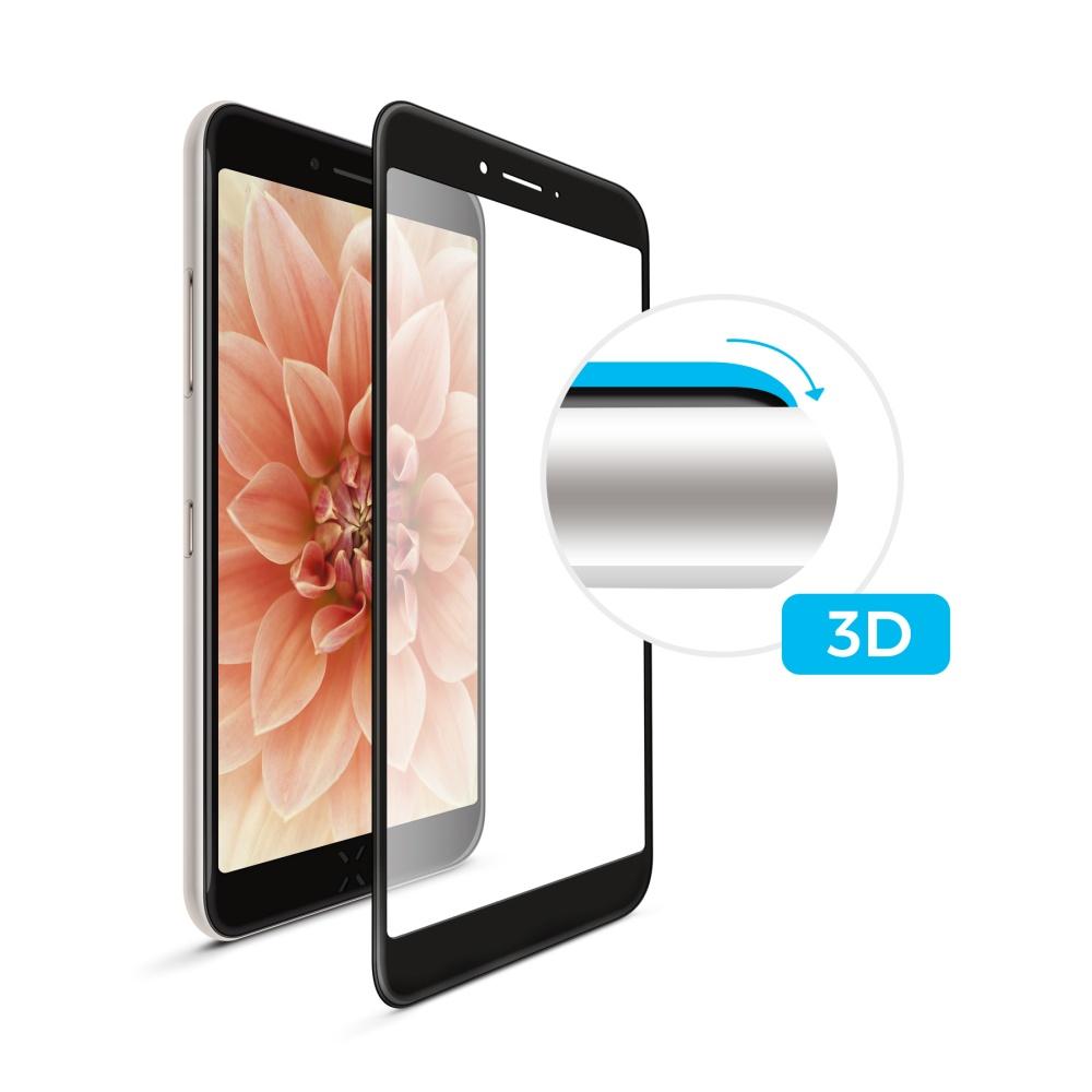 Tvrzené sklo FIXED Full-Cover pro Apple iPhone 6/6S Plus, black, s lepením přes celý displej