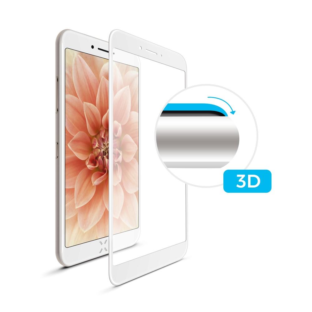 Tvrzené sklo FIXED Full-Cover pro Apple iPhone 6/6S, white, s lepením přes celý displej