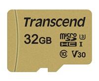 Paměťová karta TRANSCEND Micro SDHC 500S 32GB UHS-I U3 V30 + adaptér