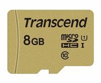 Paměťová karta TRANSCEND Micro SDHC 500S 8GB UHS-I + adaptér