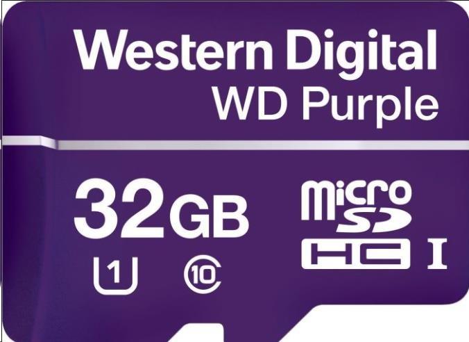 Paměťová karta WD PURPLE microSDHC 32GB Class 10