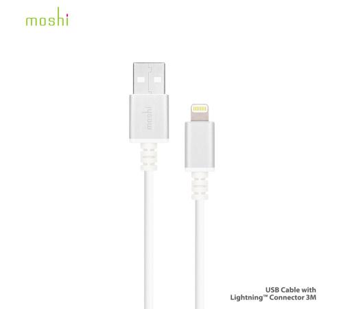 Data kabel Moshi s konektorem Lightning™ 3 m bílý