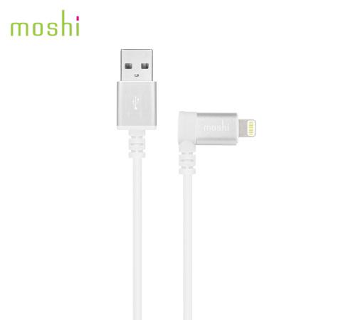 Data kabel Moshi Lightning™ s konektorem v úhlu 90° 1,5 m bílý