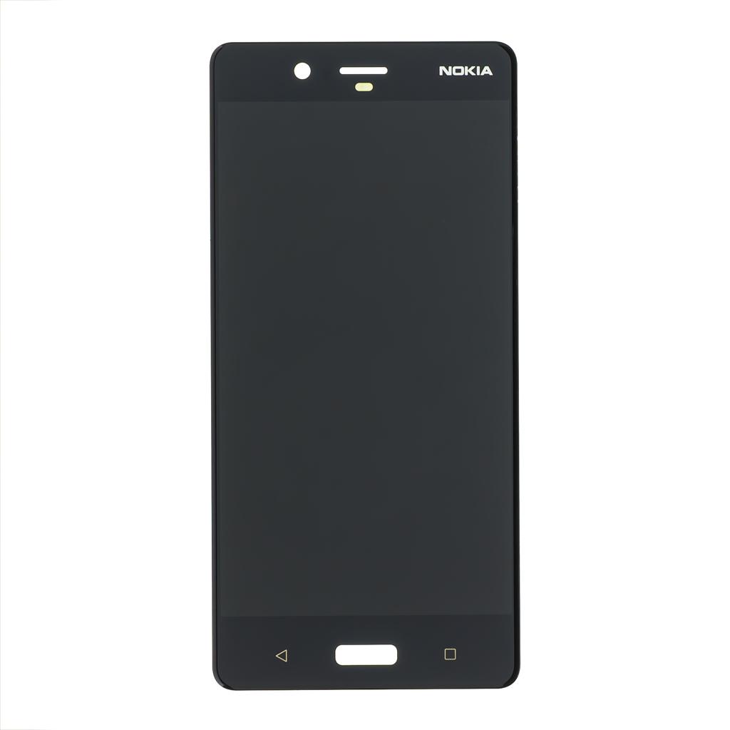 LCD display + dotyková plocha pro Nokia 8 černá