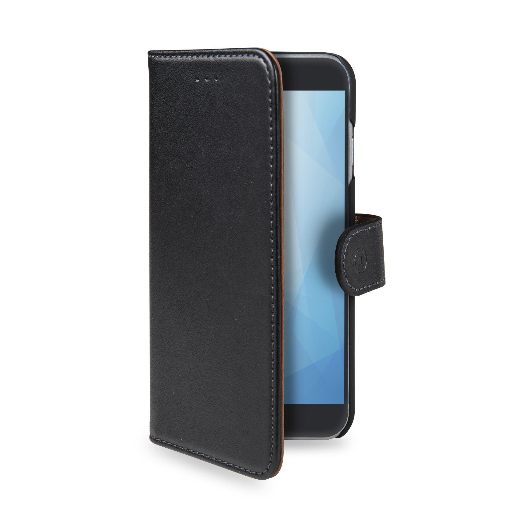 CELLY Wally flipové pouzdro pro Huawei Y9 (2018), PU kůže, black