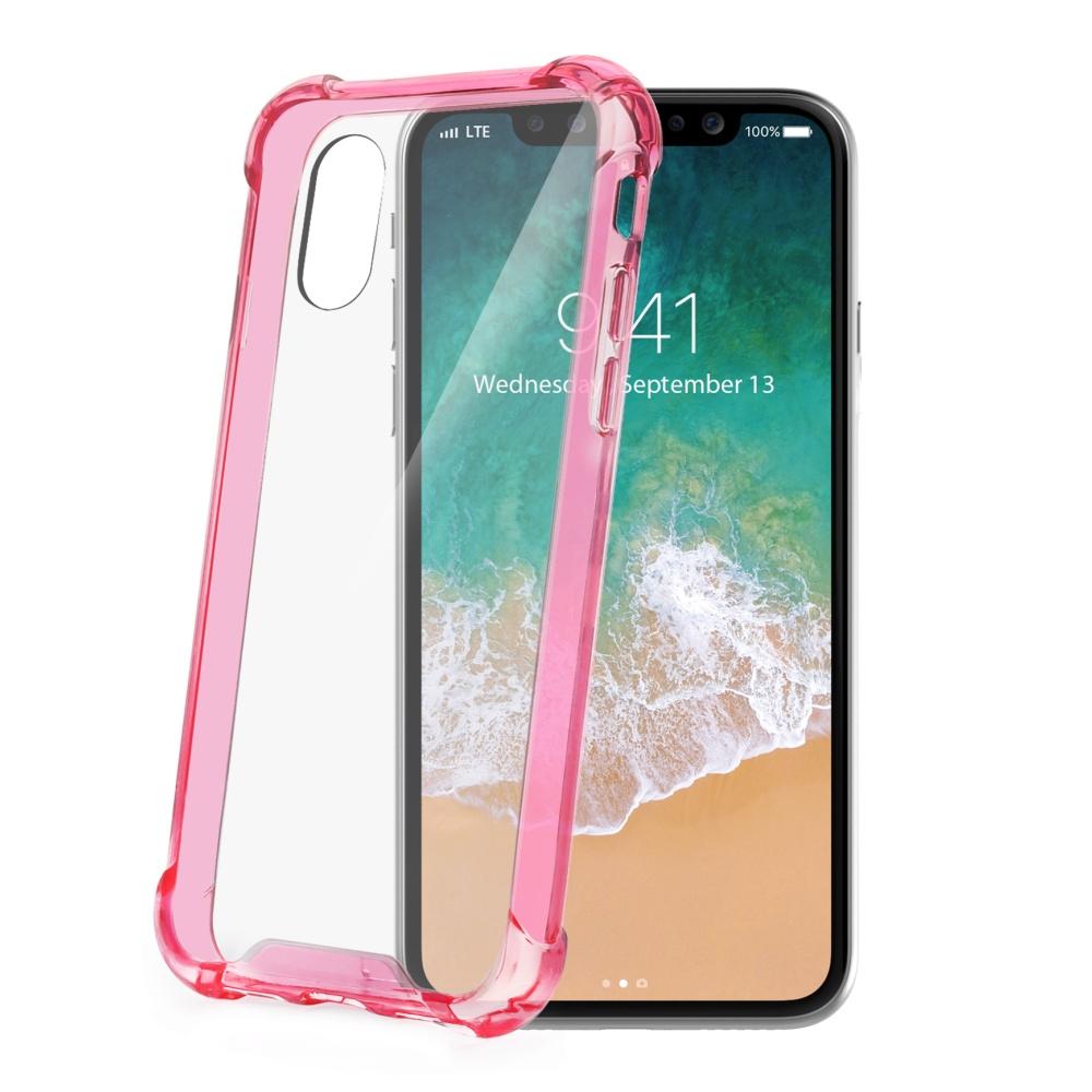 Zadní kryt CELLY Armor pro Apple iPhone X, růžové