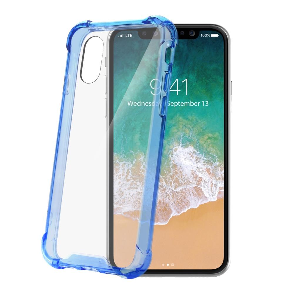 Zadní kryt CELLY Armor pro Apple iPhone X, světle modrý