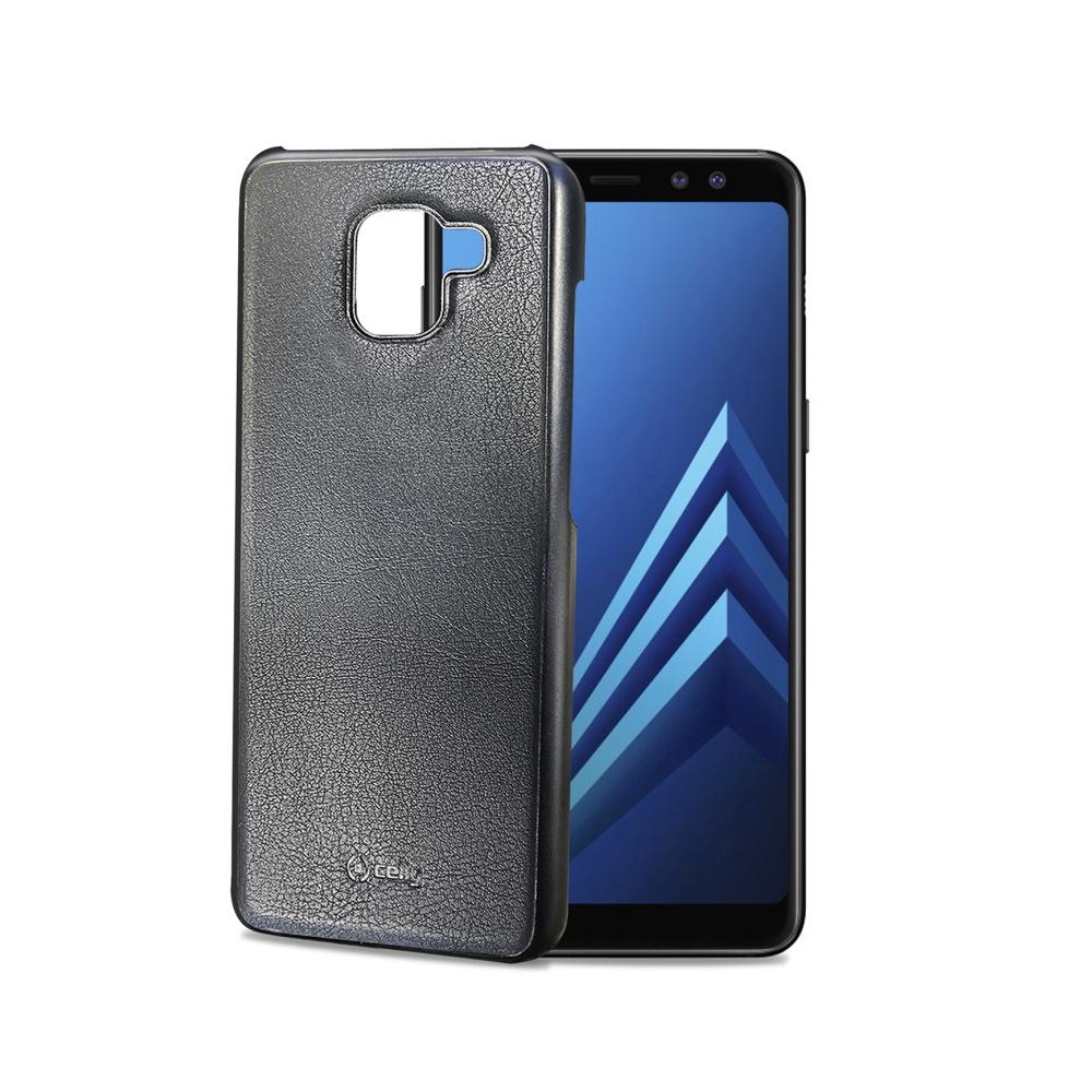 Magnetické pouzdro Celly Ghostcover pro Samsung Galaxy A8 (2018) černé