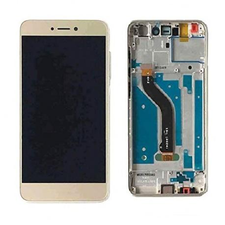LCD + dotyk + přední rámeček pro Huawei P8 Lite 2017 OEM, gold Huawei
