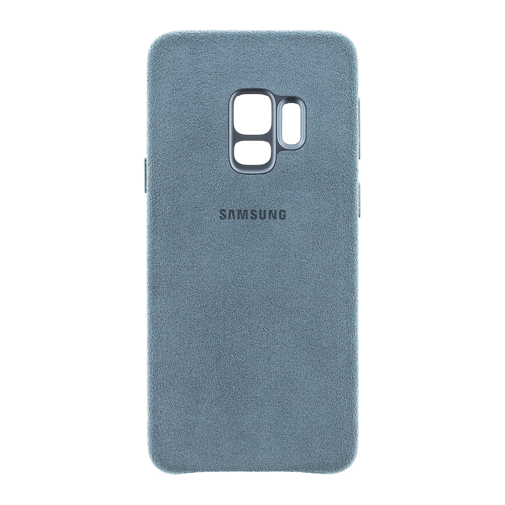 Zadní originální kožený kryt Alcantara pro Samsung Galaxy S9 (G960) mentolová