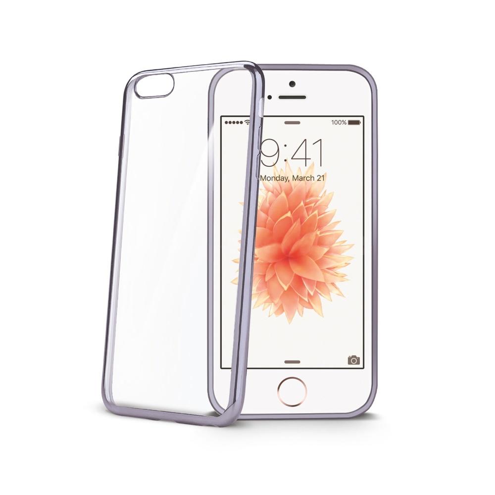 Silikonové pouzdro CELLY Laser pro Apple iPhone XS Max, silver