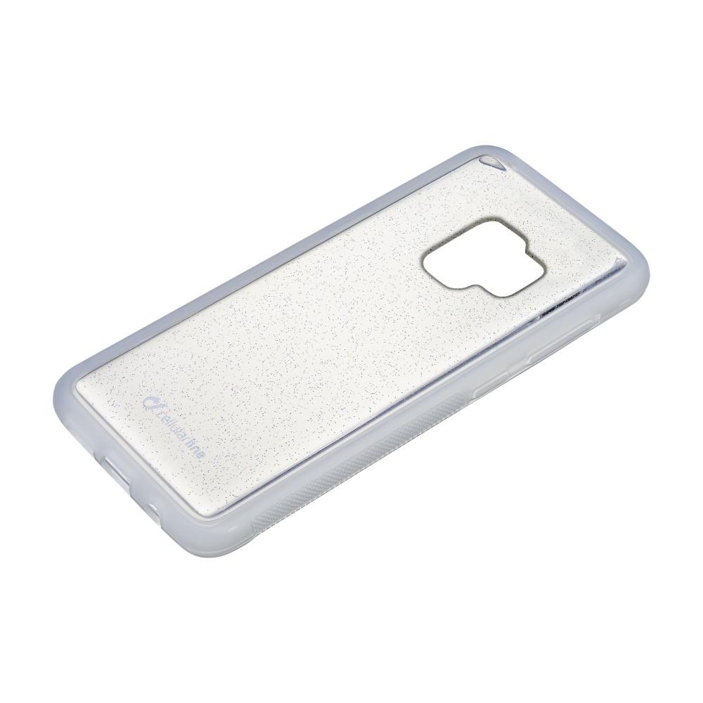 Adhezivní silikonové pouzdro Cellularline Selfie Case pro Samsung Galaxy S9 transparentní