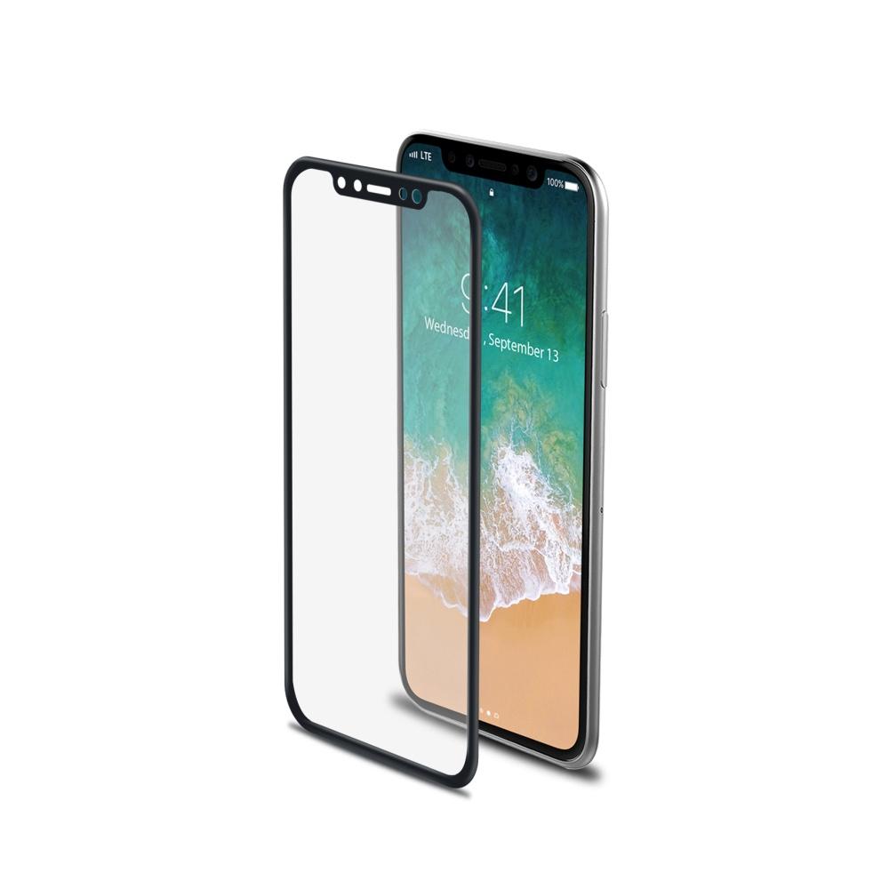 Ochranné tvrzené sklo Celly 3D Glass pro Apple iPhone X černé