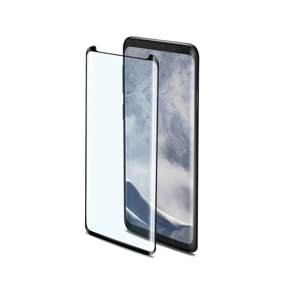 Ochranné tvrzené sklo Celly 3D Glass pro Samsung Galaxy S9 černé