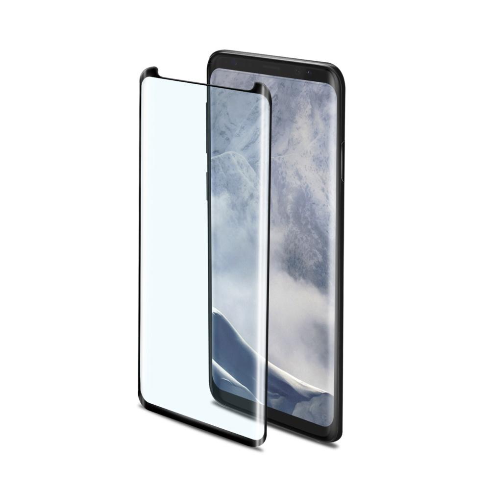 Ochranné tvrzené sklo Celly 3D Glass pro Samsung Galaxy S9 Plus černé