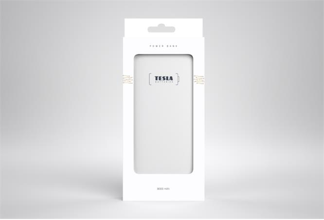 Powerbank TESLA 8000mAh, white