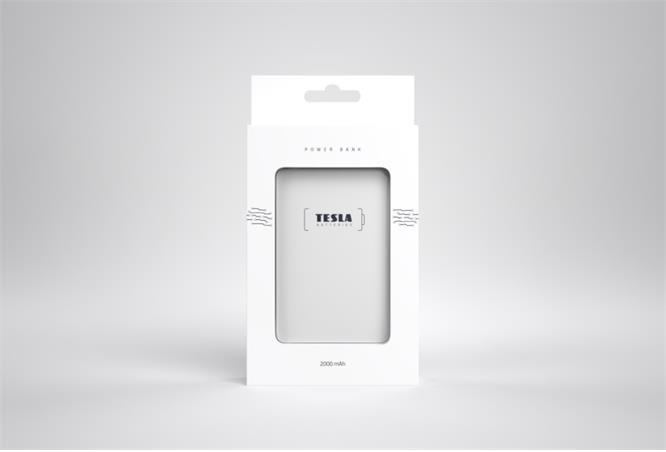 Powerbank TESLA 2000mAh, white