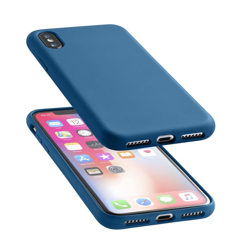 Silikonové pouzdro CellularLine Sensation pro Apple iPhone X modrý