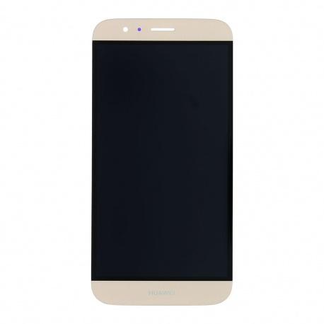 LCD + dotyk + rámeček pro Huawei G8 OEM, gold