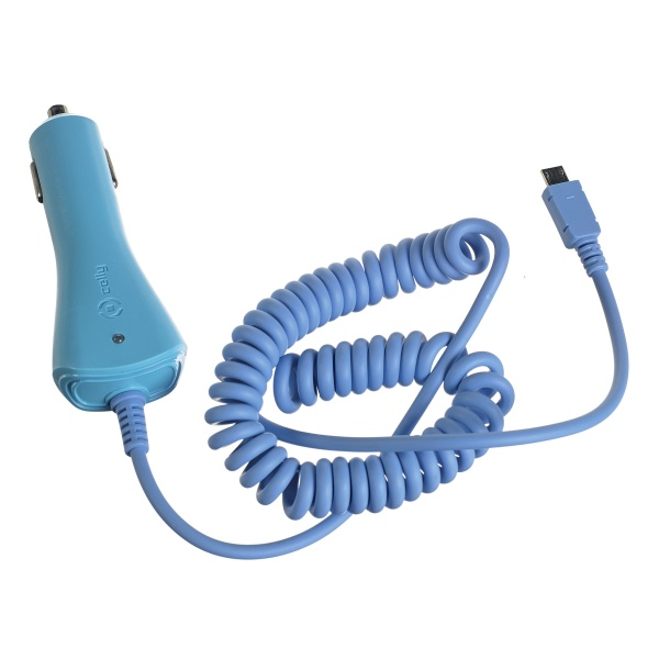 Autonabíječka Celly s microUSB konektorem 1A modrá